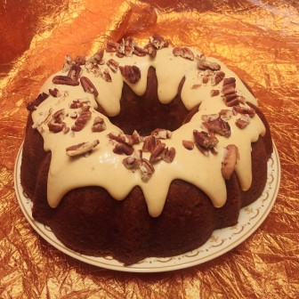 Pumpkin cake with Ginger Cream Filling