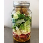 OLEA's Loaded Caesar Mason Jar Salad