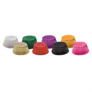 standard foil multi-coloured baking cups