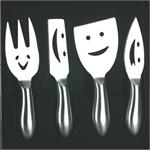 Prodyne Faces Cheese Knife Set